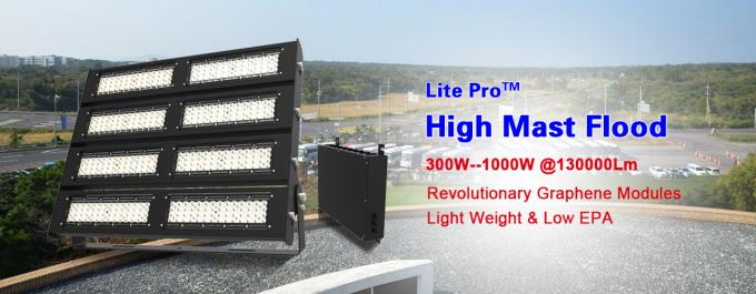 800W High Mast Light / Large Stadium High Mast Pole fixture for Airport Lights
