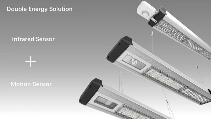 300W-100W Warehouse Led Linear High Bay 4FT Industrial Workshop Lights Dimmable