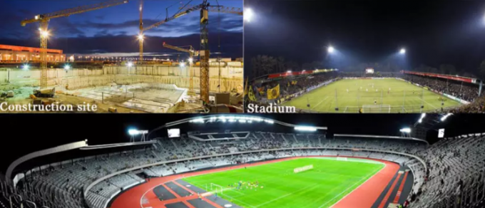 153600lm LED Sports Lighting / 30M Football Stadium Flood Light 960W 60°C
