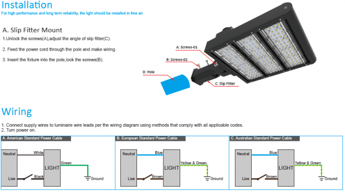 LED Area Lighting 150W / Motion Sensor LED Street Lights 3G Impact Resistance