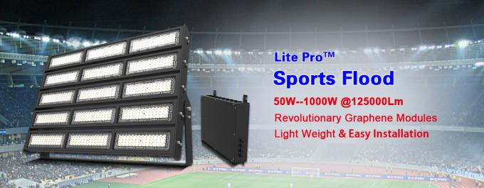 500W Modular LED Stadium Lights  SMD3030 Flood For Tennis / Volleyball Court