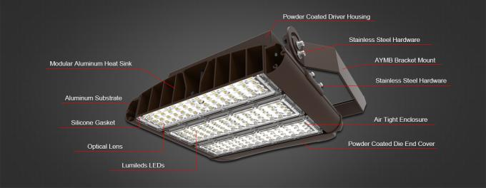450W @180LPW Exterior LED Lighting / 81000lm High Lumens Flood Lights Fixture ETL DLC Listed