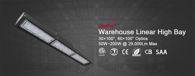 2ft 4ft Linear High Bay / 100W Warehouse industrial led linear lights for Canada