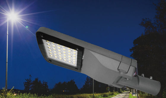 China LED Cobra Head Street Light / 50W Integrated Solar Powered Garden Street Lamps supplier